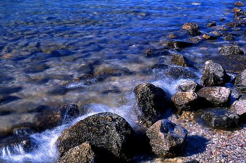 Rocks, Jenny Lake, Grand Teton National Park, Wyoming. (Fuji Provia 100F. Nikon F100. Epson V500.)