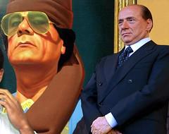 Silvio Berlusconi e Gheddafi