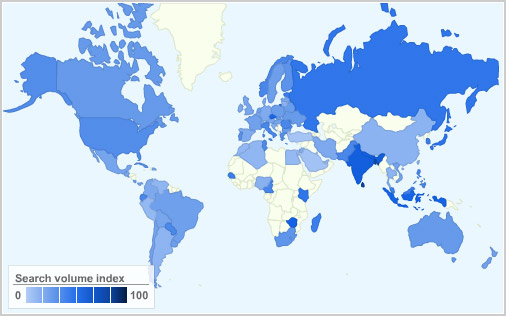 Fedora popularity map