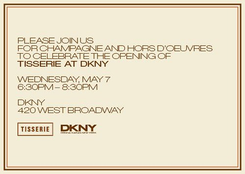 TISSERIE DKNY NYC