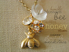 honey clusters charm necklace