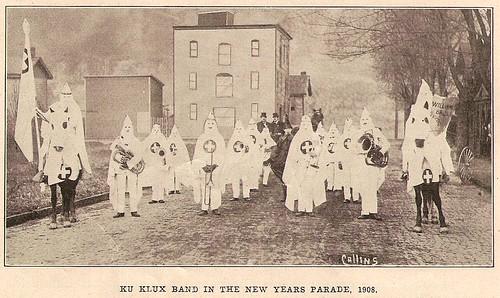 KKK on 7th st. Monongahela PA 1908, New Year's Day
