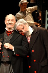 Jonathan Gillard Daly and Michael Fitzpatrick in The Taming of the Shrew (2008, dir Alec Wild)