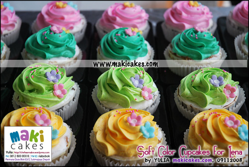 Soft Color Cupcakes for Lena_ - Maki Cakes
