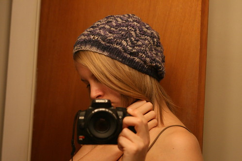Winter Beret in Malabrigo Worsted - Alpine Pearl.