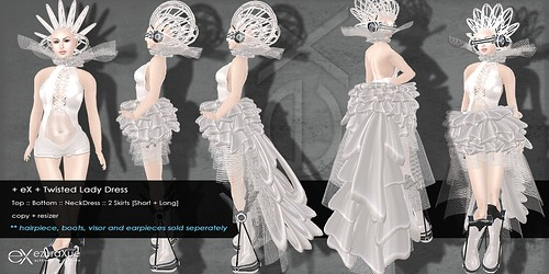 + eX + Twilight Lady Dress *White