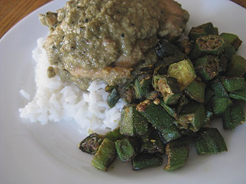 coconut chicken and okra