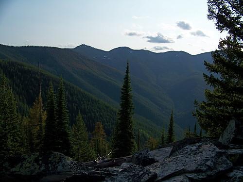 The peaks of the Cherry Peak roadless area