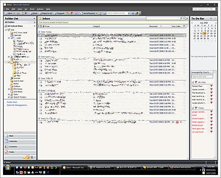 Outlook Skin Screenshot Black