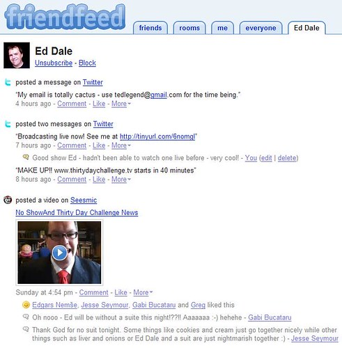 Friendfeed - Ed Dales Friendfeed Page