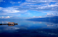 View from the Savoy Inn, Pogradec