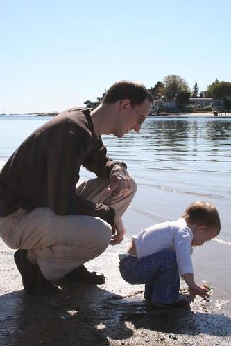 Testing the waters, Nana's Beach