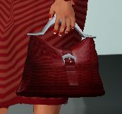 ETD City Handbag (Red Croc)