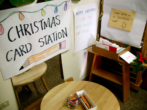 christmas card station