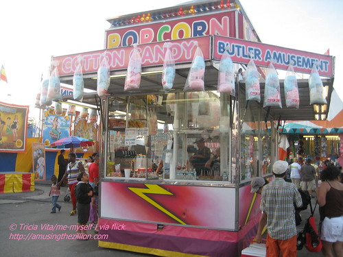 Butler Amusements Cotton Candy Wagon in Coney Island. Photo © Tricia Vita/me-myself-i via flickr