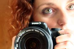 me & my camera, mirror self-portrait