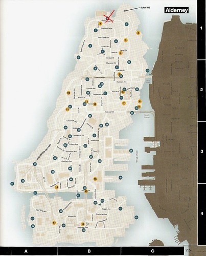 GTA IV Pigeons Map (Alderney)