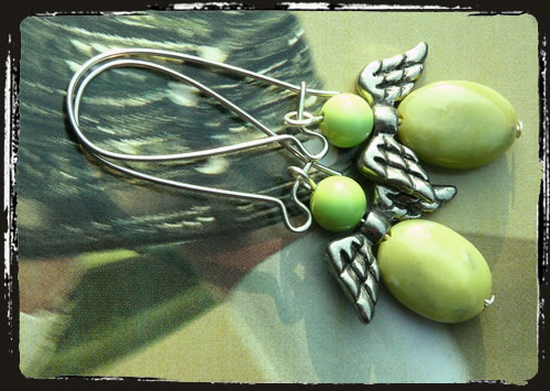 Orecchini verdi - Green earrings MEHLANG
