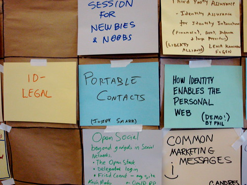 IIW Unconference Schedule
