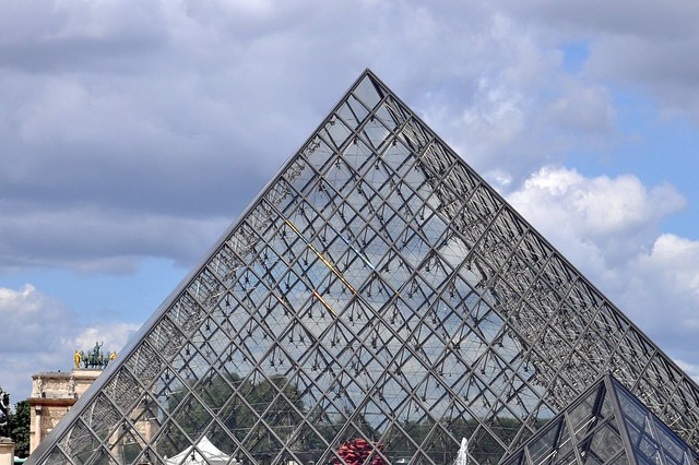 My pyramid from Louvre, shining in rainbow colours
