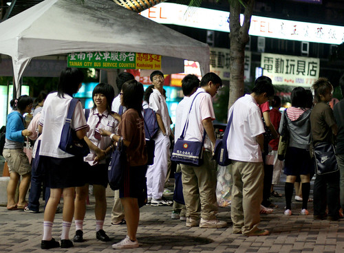 students waiting for the bus  2