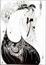 Aubrey Beardsley. La falda de pavo real, de Salomé. 1894.