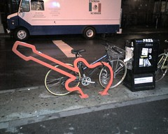David Byrne bike rack in NYC