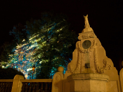 Michel Rodange monument in the tree light