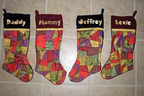 2007 Christmas stockings