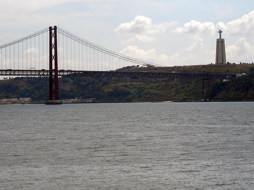 25 de Abril Bridge with Cristo-Rei