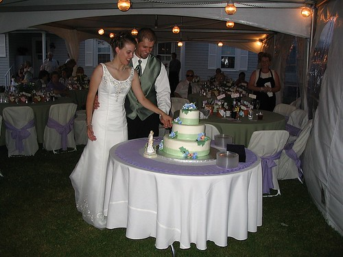Cake Cutting at the Wedding