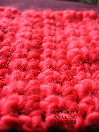 crochet neckwarmer macro