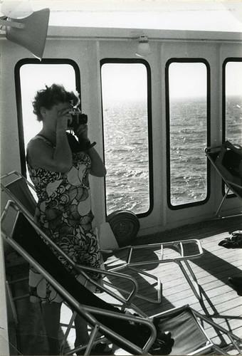La photographe du bateau