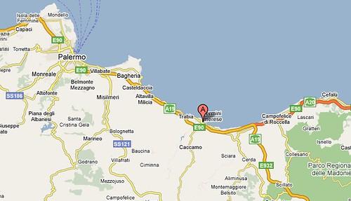 Map -Termini near Palermo