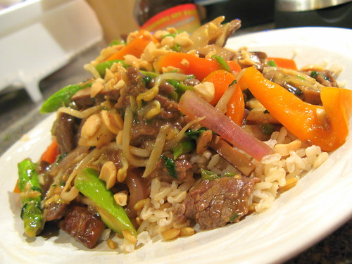 Lemongrass Beef with Asparagus and Preserved Shredded Tofu by you.