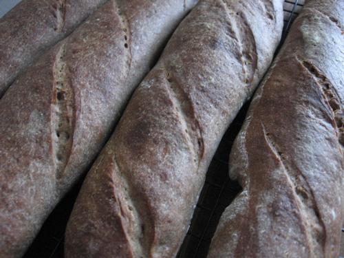 Buckwheat baguettes