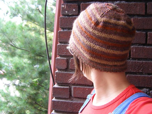 brown stripe bucket hat