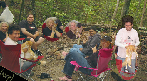 20080927 - camping - 169-6933 - Carolyn, Lemonjello, Eli, Clint, Oranjello, Evan, Tabbitha - group picture - please click through to leave a comment on FlickR