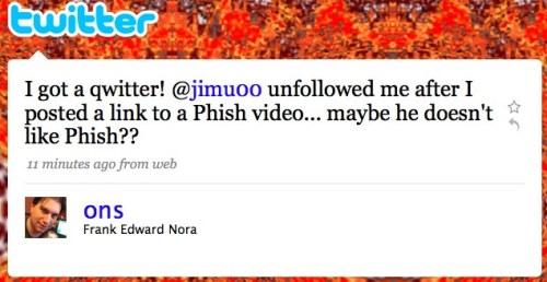 Twitter / Frank Edward Nora: I got a qwitter! @jimu00 u ...