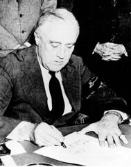 President Franklin D. Roosevelt signing the De...