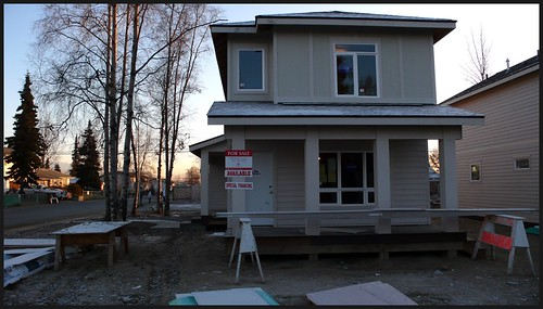 Cook Inlet Housing Authority house under construction in Mt. View.