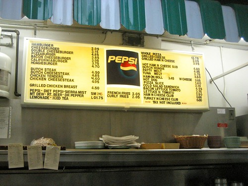 222 Dutch Lanes Lunch Counter Menu