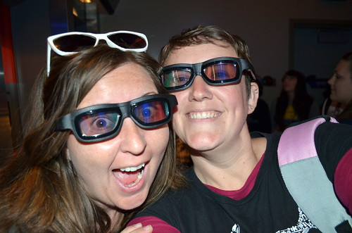 Happy thing: Bonnie and I, with our super cool 3-D glasses!