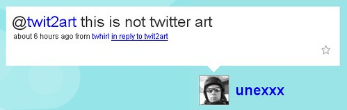 this is not twitter art