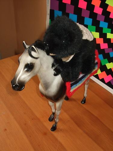 Luna on horseback