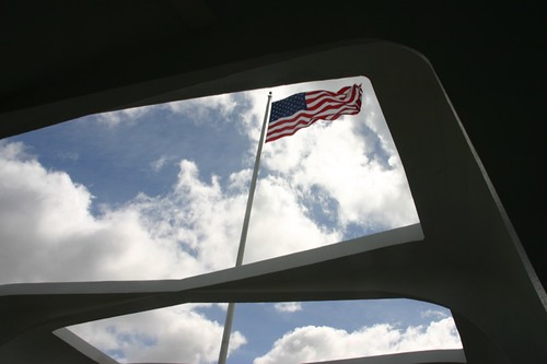 Flag at the USS Arizona Memorial