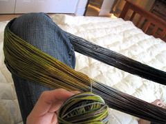 winding yarn into ball