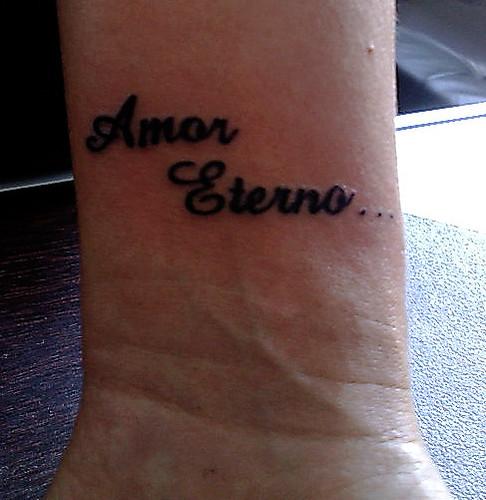tatuagem letras amor eterno no pulso. Tarzia tattoo - tatuagens artÍSticas