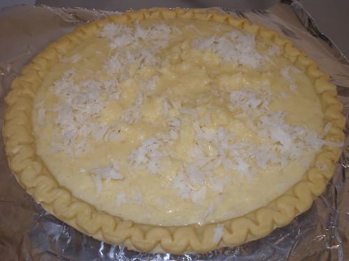 Coconut Buttermilk Pie (pre-baking)