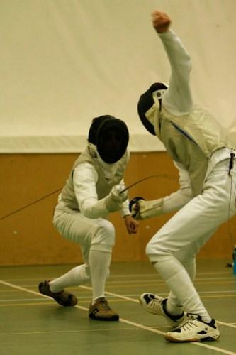 Mens Fencing vs Bangor 26-11-2008: Sam Newsome